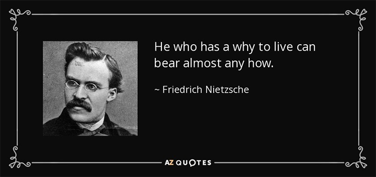 Nietzsche and quote on identity and purpose